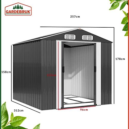Deuba XXXL Metall Gerätehaus - 7
