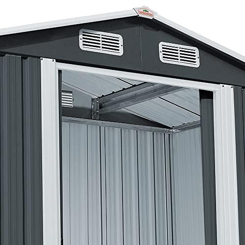 Deuba XXXL Metall Gerätehaus - 8