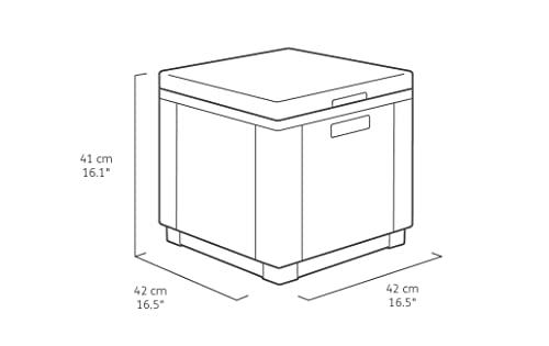 Kühlbox/Beistelltisch Ice Cube, grau (graphit), 40 L - 3