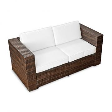 2er Polyrattan Lounge Sofa-190422115514