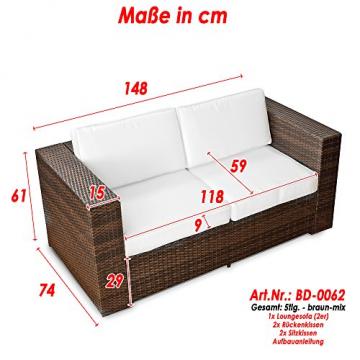 2er Polyrattan Lounge Sofa-190422115518