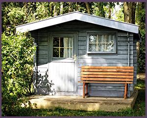 dachrinne für gartenhaus
