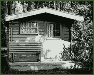 dachrinne gartenhaus kunststoff