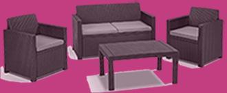 garten lounge set rattan