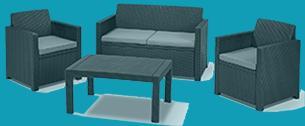lounge sofa polyrattan