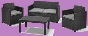 outdoor loungemöbel polyrattan