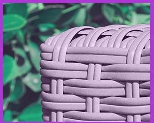polyrattan lounge braun