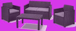 polyrattan lounge günstig