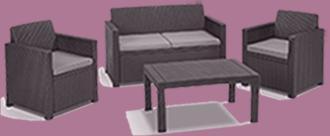 polyrattan lounge sale